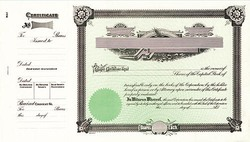 Stock Certificate 1 Custom Printed