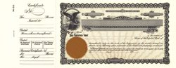 Stock Certificate GOES 53 Custom Printed