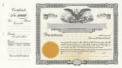 Stock Certificate GOES N1 Custom Printed